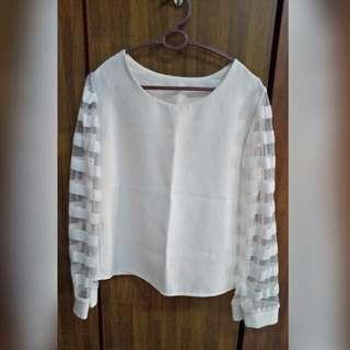 (Preloved) Long Sleeves White Shirt