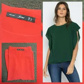 Forme RED sleeve gusset blouse