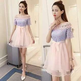 Dress carla purpink lace