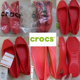 Authentic Crocs Sienna Flat (Flame - Size 7)