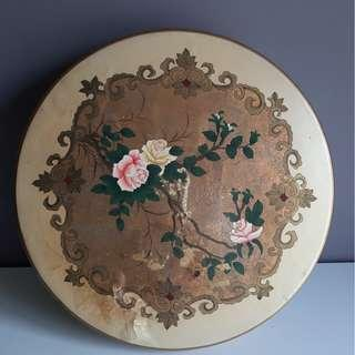 Vintage Hand Painted Peranakan Table
