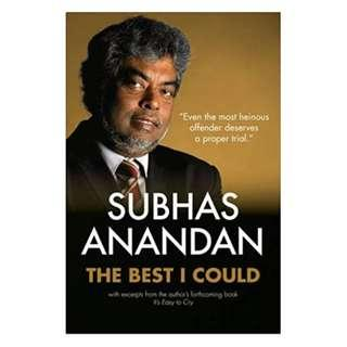 The Best I Could (By Subhas Anandan - best criminal lawyer in Singapore)