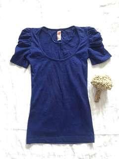 Zara glitter blue top