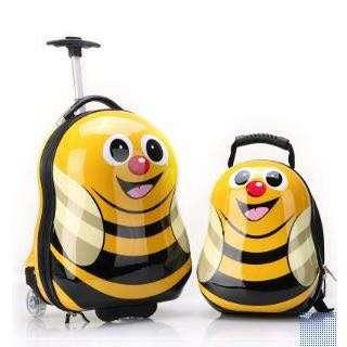Kids Trolley bag & backpack hard shell bag - Bee
