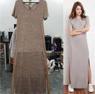 F21 Long Slit Dress
