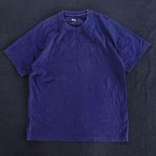 🚚 🌴90s Stussy深藍色厚磅復古短袖上衣 NAVY T恤 男女皆可Vintage 古著
