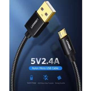 Micro USB Cable 2.4A Fast Charge Data Cable