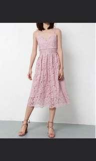 🚚 Dusty pink lace dress