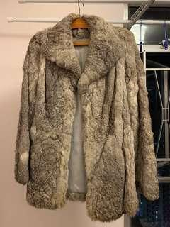 Authentic rabbit fur coat
