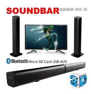 TV Soundbar Wireless Speaker (USB, TF, TV & AUX) -1 Month Old