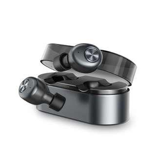 ZNT AirFits Truly Wireless Bluetooth Earphone [Rechargeable Sports Earbuds - Black]