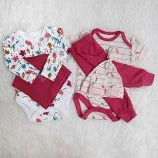 Set Baju bayi / Babyset flaminggo