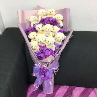 🚚 💖 2019 Valentine's Gifts: Teddy Bear Bouquet