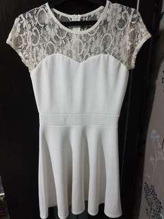 Lace White Dress by Chic Simple