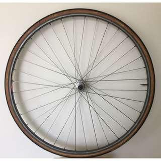 Rear Wheel: Mavic GP4 rim, Campagnolo Record Hub
