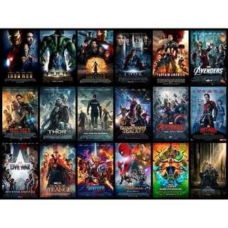 Marvel Cinamatic Universe Movies in MP4