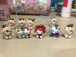 Hello Kitty 星座吊飾