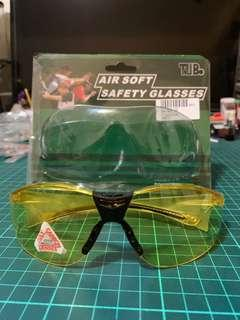Air soft safety goggles 氣槍 安全眼鏡 防UV 400