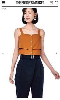 The Editor's Market Camellia Layered Crop Top