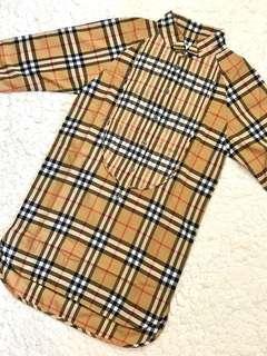 🚚 近全新! Burberry女童超經典格紋襯衫式棉質洋裝(6Y)