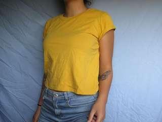 Yellow mustard tshirt