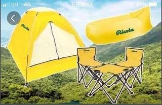 利口樂 戶外帳篷 吹氣梳化 一枱兩椅。 全部有獨立環保袋