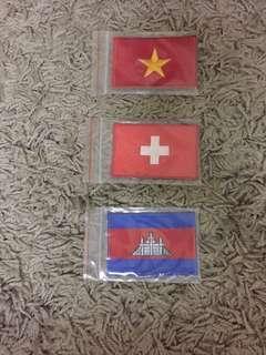 Country Patches (Switzerland 🇨🇭, Vietnam 🇻🇳 & Cambodia 🇰🇭)
