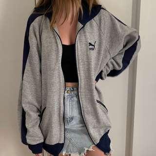 Puma grey zip jacket