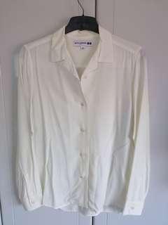 becd86c7e049 BNWOT Off white shirt cream shirt UNIQLO x Ines De La Fressange  #SpringCleanAndCarousell50
