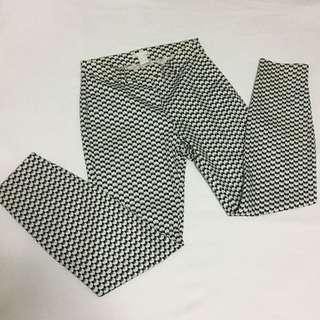 H&M printed slacks pants