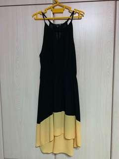 Forever 21 Black and Yellow Dress