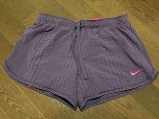 Purple Nike Compression Shorts