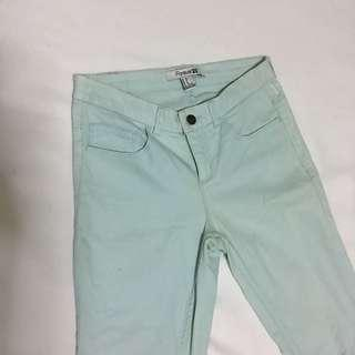 Forever 21 light mint pants colored skinny jeans