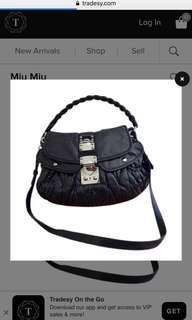 Miu miu bag 黑色手袋