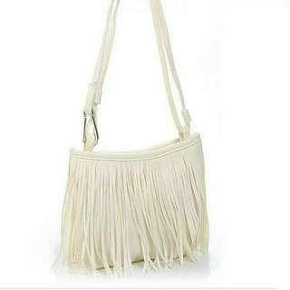 Korean tassel sling bag