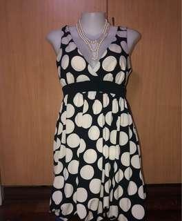 Twenty One Black and white Polka dots Sphagetti Strap Dress
