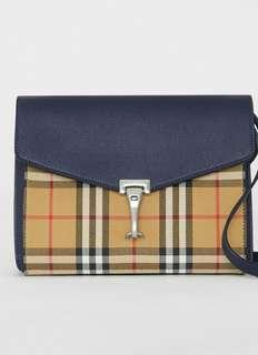 8c09324af Burberry Small Vintage Check and Leather Crossbody Bag