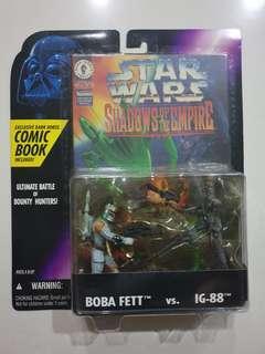 Hasbro Star Wars Boba Fett Vs IG-88 1996 New
