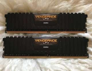 🚚 Corsair VENGEANCE® LPX 8GB (2 x 4GB) DDR4 RAM 2400MHz C14 Memory Kit - Black