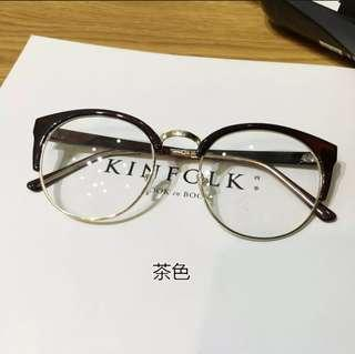 Korean-Style Harajuku Eyeglass Replaceable Lense
