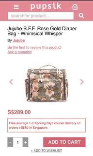 🚚 BNWT Jujube Whimsical Whisper BFF Diaper Bag