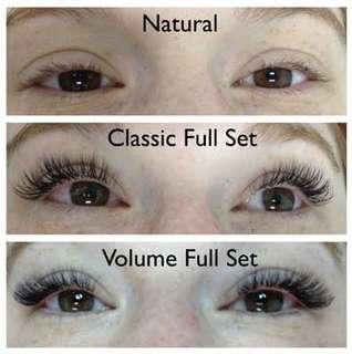 Affordable eyelash extensions!