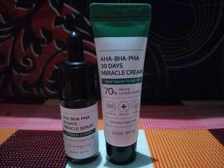 AHA BHA PHA Miracle Serum & Miracle Cream Some By Mi