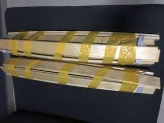 🚚 Wooden bed frame support wooden planks