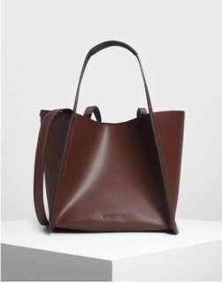 Charles and Keith Large Oversized Tote Bag/ Purse