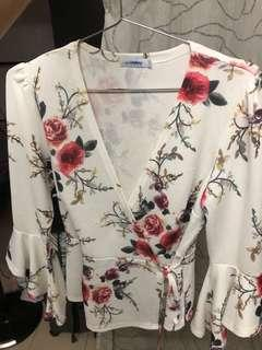 TEMT Floral Blouse