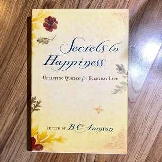 Secrets to Happiness book quotes
