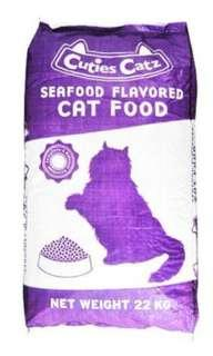 Dry cat food! Cuties Catz Seafood flavour ! 22kg! ( Good for commercial cat feeders!)