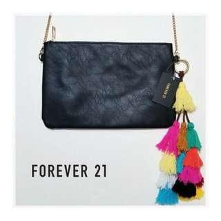 F21 Black Sling with Tassel