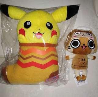 Pikachu & monster hunter stuff toy